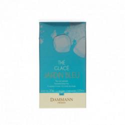 Thé glacé jardin bleu thé noir parfumé fraise des bois rhubarbe sachet cristal Dammann
