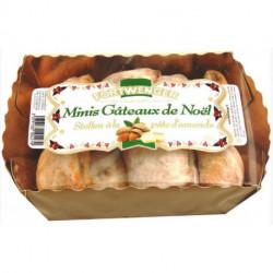 Mini gateau de Noël stollen à la pâte d'amandes en bouchées 350g