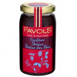 Confiture Favols fraise, fraise des bois, poids net 270g