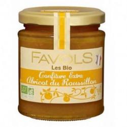 Confiture extra bio Favols abricot du Roussillon poids net 220g