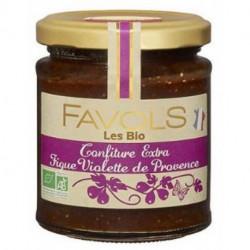 Confiture extra bio Favols figue violette de Provence poids net 220g