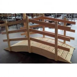 aménagement de jardin : petit pont en bois