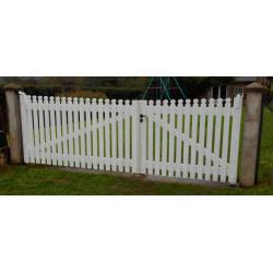 portail peint blanc sur mesure