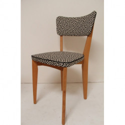 Chaises vintage restaurées en tissu Knoll