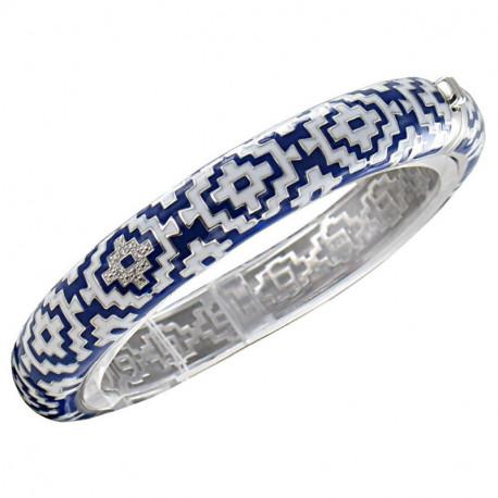 bracelet argent émail JO121186