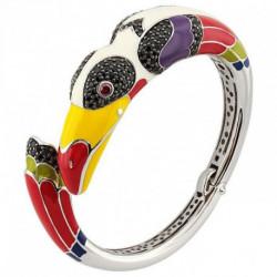 bracelet argent émail JO12144