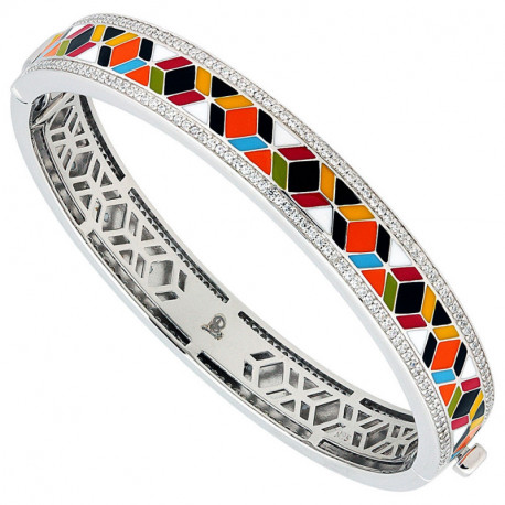 bracelet argent émail JO121193