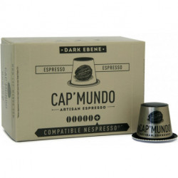 DARK EBENE CAP'MUNDO capsules café compatibles Nespresso®*
