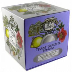 Tisane Sérénité biologique cube carton 24 sachets Provence d'Antan