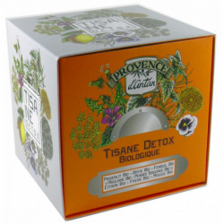 Tisane Détox biologique cube carton 24 sachets Provence d'Antan