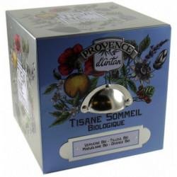 Tisane Sommeil biologique boite métal 24 sachets Provence d'Antan