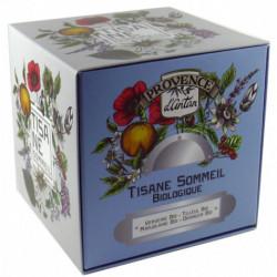 Tisane Sommeil biologique cube carton 24 sachets Provence d'Antan