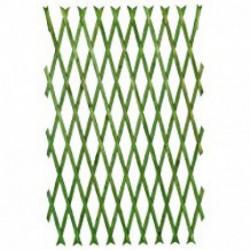 Treillage peint (vert, acajou)