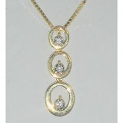 collier bicolore trilogie diamants PE505XB5
