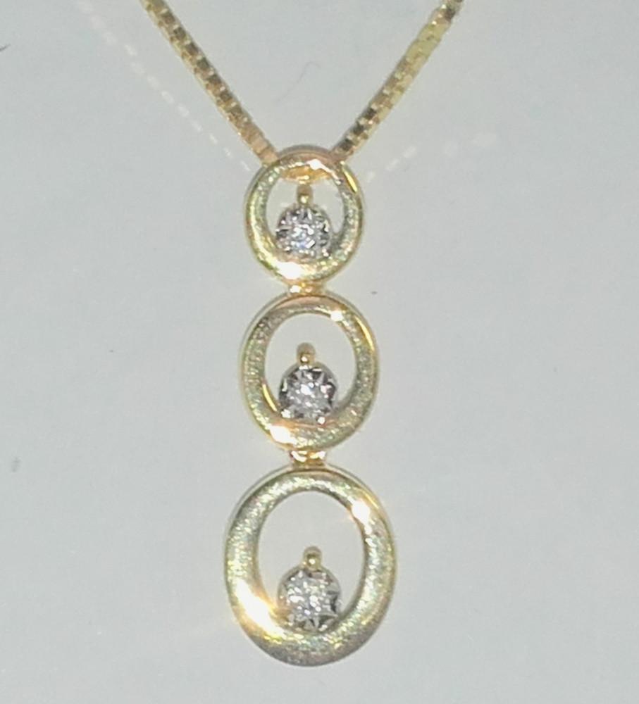 grande remise de 2019 acheter de nouveaux section spéciale collier or diamant bicolore trilogie autun