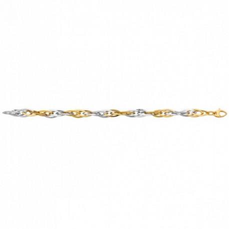 Bracelet or olives bicolores