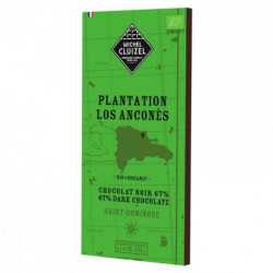 tablette chocolat noir 67% Plantation Los Anconès Bio Saint-Domingue 70g Cluizel