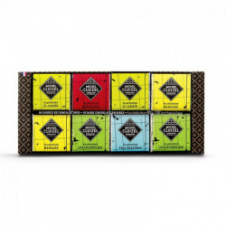 coffret 16 carrés de chocolat noir plantation 80g Cluizel