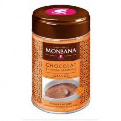 Chocolat en poudre aromatisé orange 32% cacao Monbana boite 250g