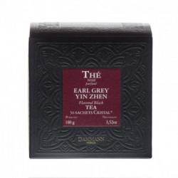 Thé noir parfumé Earl Grey Yin Zhen sachet cristal Dammann