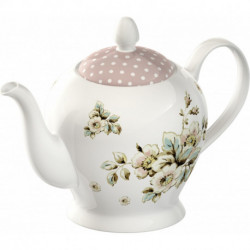 Théière Cottage Flower Porcelaine 6 tasses Katie Alice