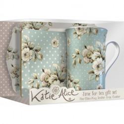 Coffret Time for Tea Cottage Flower (Mug, plateau, dessous de tasse) Katie Alice
