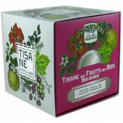 Tisane aux Fruits des Bois biologique cube carton 24 sachets Provence d'Antan
