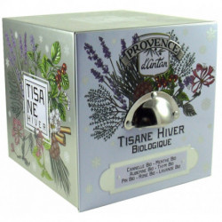 Coffret Tisane Hiver biologique boite métal 24 sachets Provence d'Antan
