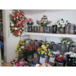 Vases-jardinières-cache pots-fleurs artificielles