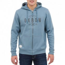 Gilet sweat zippé à capuche bleu Selkirk OXBOW