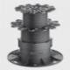 Plots Réglables à clipser sur lambourdes aluminium Profi-line
