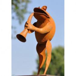 Grenouille musicienne décorative